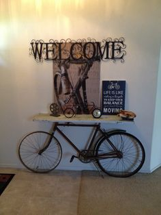 Vintage Bike Table | diy. | Vintage bike decor, Vintage ...