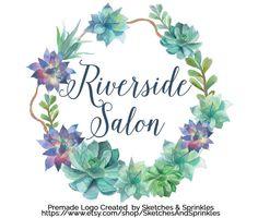 Premade Watercolor Succulents Logo  Nature by SketchesAndSprinkles