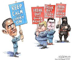 "Top News: ""USA: President Obama 'Keep Calm And Carry On' - Political Cartoon"" - http://www.politicoscope.com/wp-content/uploads/2015/12/USA-News-President-Obama-Keep-Calm-And-Carry-On-Political-Cartoon.jpg - Here's President Barack Obama 'Keep Calm And Carry On' political cartoon of the day.  on Politicoscope - http://www.politicoscope.com/usa-president-obama-keep-calm-and-carry-on-political-cartoon/."