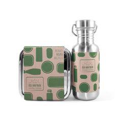 Pausensnack ohne Plastik! Mit der robusten Edelstahl-Lunchbox und Trinkflasche von Eco Brotbox. Perfekt für Schule und Kindergarten.