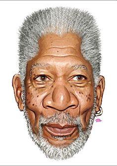 Morgan Freeman - CARICATURE: http://dunway.com/                                                                                                                                                                                 Mais
