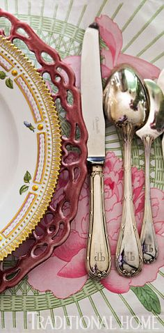 monogrammed flatware from Christofle