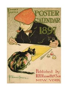 Art Print: R.H. Russell & Son Calendar, 1897 by Edward Penfield : 24x18in