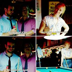 """She's as quick as she is beautiful. She reminds me of myself"" - Foggy, Karen and Matt #Daredevil"