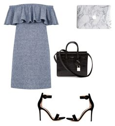 """""""Untitled #198"""" by aayushis on Polyvore featuring Warehouse, Gianvito Rossi and Yves Saint Laurent"""