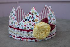 Fabric Crown - Princess Red