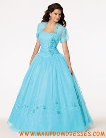 Strapless Ligth Blue Quinceanera Dresses UK