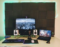 How Can I Improve On My Setup? #PC #Computers #Gaming Computer Setup, Gaming Setup, Gamer Room, Gadget, Home Office, Computers, Sick, Desktop, Canning