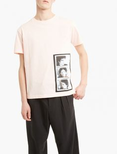 Raf Simons,x Robert Mapplethorpe Self Portrait T-Shirt,PINK,0