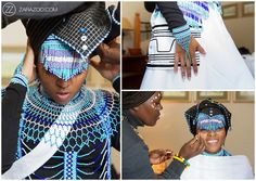Tobani & Nizi's Traditional African Wedding photos as well as their White Wedding. The wedding took place in East London and McClear, South Africa South African Traditional Dresses, African Traditional Wedding, Traditional Outfits, Traditional Weddings, Traditional Design, Xhosa Attire, African Attire, African Wear, African Dresses For Women