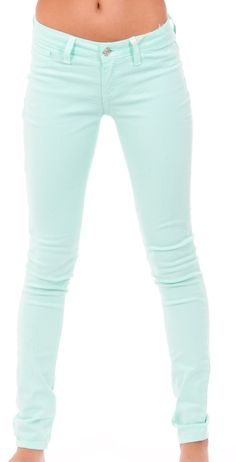 Five Pocket Skinny Mint Jeans really cute pretty affordable! :D