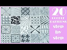 20 EASY Doodle Patterns | Step by Step | Zentangle patterns - YouTube