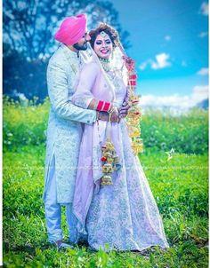 Sikh Wedding photography of a Punjabi bride and groom Punjabi Wedding Couple, Wedding Couple Photos, Punjabi Couple, Sikh Wedding, Wedding Couples, Punjabi Boys, Wedding Book, Couple Pictures, Couple Photoshoot Poses