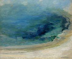 John Henry Twachtman - Edge of the Emerald Pool, Yellowstone 1895