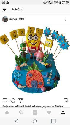 Sungerbob pasta Spongbob cake