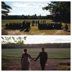 Outdoor Backyard Wedding Ceremony