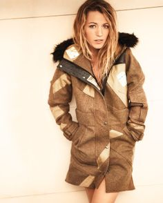 Blake Lively wearing Christopher Raeburn in the August issue of American Vogue Best Winter Parka, Best Parka, Blake Lively Vogue, Blake Lively Style, Sustainable Clothing, Sustainable Fashion, Sustainable Design, Gossip Girl, Love Fashion