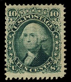 United States 1867 10c green, E.Grill, unused without gum, wide margins, sharp grill impression, fresh color, fine and rare unused, with 2004 PSE cert., (...