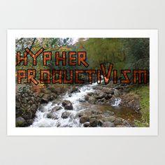 Acoustic Typography: Hypher Productivism [ORANGE] Art Print by David Nuh Omar - $22.88
