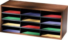 Fellowes® 12 Compartment Literature Organizer. Perfect for those who prefer piling to filing.
