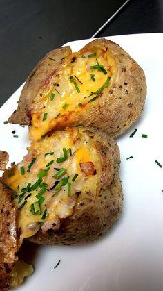 Μαγειρική για όλους!: Πατάτες γεμιστές φούρνου