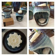 David Small 's ceramic burners perfectly complement our soy wax melts available here at the shop!