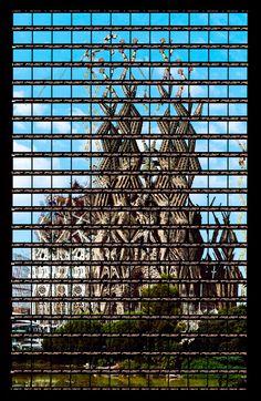 photomontages of famous landmarks by thomas kellner