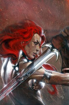 Red Sonja By Gabriele Dell'Otto #Comics #Illustration #Drawing
