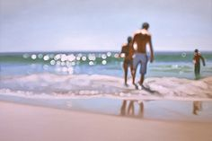 blurred oil paintings by Phillip Barlow ...amazing!  It's like the photographic bokeh!!!