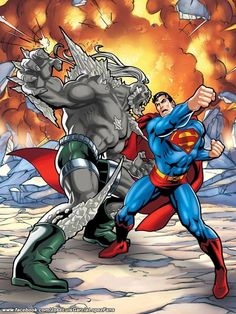 Superman vs Doomsday by Jose Luis Garcia Lopez