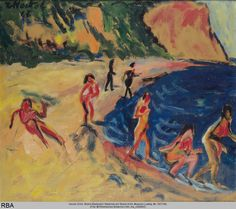 Erich Heckel, Strand(Badende), 1912, Öl auf Leinwand, 70,5 x 81 cm, Museum Ludwig Köln.