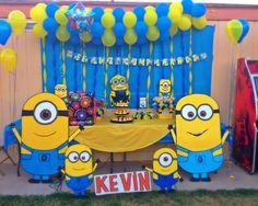 my son minions birthday table