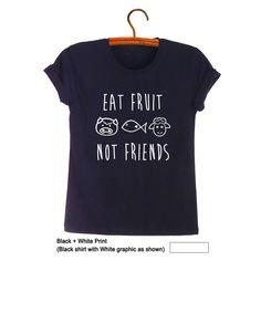 Eet groenten niet vrienden Shirt Vegan T Shirt Graphic Tee Unisex tiener Shirts geschenken