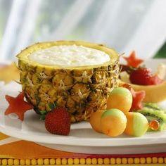 Pineapple Yogurt Dip ~~ low fat, low sugar, and cute presentation!
