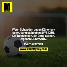 When Sweden plays Denmark, SWE: DEN is at the top. The letters that . - When Sweden plays Denmark, SWE: DEN is at the top. The letters that remain make DEN: MARK. Silly Jokes, Good Jokes, Funny Jokes, Hilarious, Jokes In Hindi, Funny Facts, Funny Cute, Good To Know, The Book