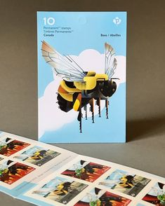 A few more shots of my newly-released bee stamps from Illustrator Dave Murray ‏ Dave Murray, Save The Bees, Illustrator, Stamps, Shots, Movies, Movie Posters, Art, Door Bells
