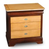 Louis-Philippe Orleans 4-Drawer Bedside Cabinet + Secret compartment L 30 x H 30 x D 19 ¾