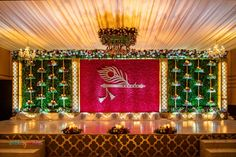 Engagement Stage Decoration, Naming Ceremony Decoration, Reception Stage Decor, Wedding Backdrop Design, Desi Wedding Decor, Wedding Stage Design, Luxury Wedding Decor, Wedding Reception Backdrop, Marriage Decoration