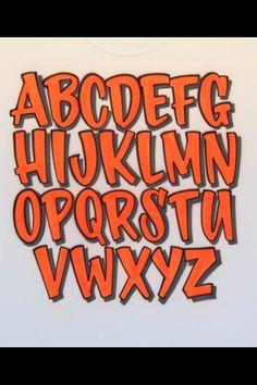 Graffiti Lettering Fonts, Tattoo Lettering Fonts, Hand Lettering Alphabet, Doodle Lettering, Graffiti Alphabet, Creative Lettering, Lettering Styles, Typography Letters, Alphabet Fonts