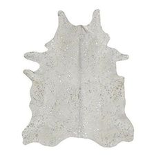 Devore Metallic Kuhfell in Weiß mit Silbermuster Acid Burnt Pearl / Silver