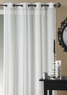 Panneau - Etamine fantaisie fils lurex avec des rayures verticales disponible au mètre