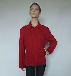 Ralph Lauren Women's Red Full Zip Red Jacket Size 1x   eBay