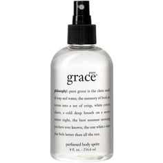 philosophy pure grace all over body spritz, 8 oz. (850 TWD) ❤ liked on Polyvore featuring beauty products, beauty, perfume and no color