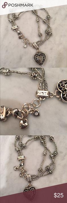 Brighton Reno Heart Bracelet Excellent condition. Brighton Jewelry Bracelets