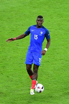 #EURO2016 Paul Pogba of France during the European Championship Final between Portugal and France at Stade de France on July 10 2016 in Paris France