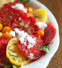 Tomato Carpaccio with Horseradish Sauce