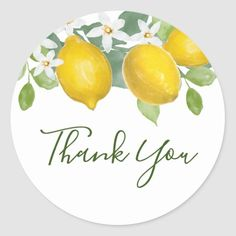 Citrus Lemon Themed Thank You Favor Sticker Bridal Shower Favors, Bridal Shower Invitations, Brunch Invitations, Thank You Stickers, Wedding Stickers, How To Squeeze Lemons, Sticker Shop, Wedding Thank You, Different Shapes