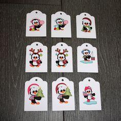 """9 étiquettes cadeau """"Petits Pingouins"""" : Emballages cadeaux par creerpourvous"""