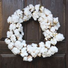 Real Cotton Wreaths | Southern Holiday Wreaths