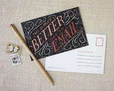 Cartes postales lot de 10  mieux qu'un Email par witandwhistle, $14.00